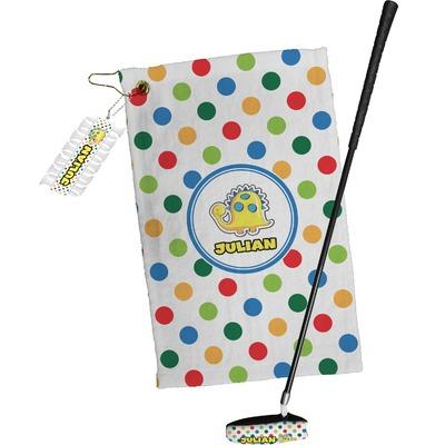 Dots & Dinosaur Golf Towel Gift Set (Personalized)