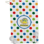 Dots & Dinosaur Golf Towel - Full Print (Personalized)