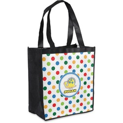 Dots & Dinosaur Grocery Bag (Personalized)