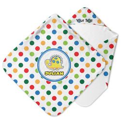 Dots & Dinosaur Hooded Baby Towel (Personalized)