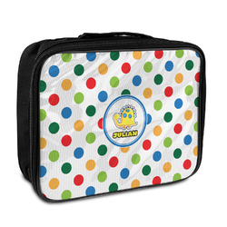 Dots & Dinosaur Insulated Lunch Bag (Personalized)