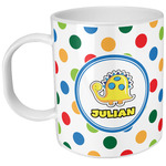 Dots & Dinosaur Plastic Kids Mug (Personalized)