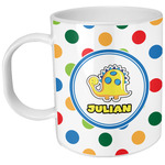 Dots & Dinosaur Plastic Kids Mug (Personalized)