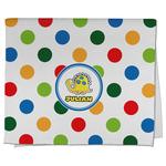 Dots & Dinosaur Kitchen Towel - Full Print (Personalized)