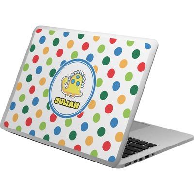 Dots & Dinosaur Laptop Skin - Custom Sized (Personalized)