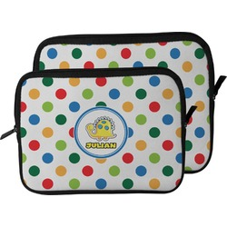 Dots & Dinosaur Laptop Sleeve / Case (Personalized)
