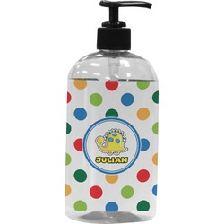 Dots & Dinosaur Plastic Soap / Lotion Dispenser (Personalized)