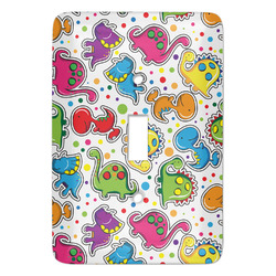Dots & Dinosaur Light Switch Cover (Single Toggle) (Personalized)