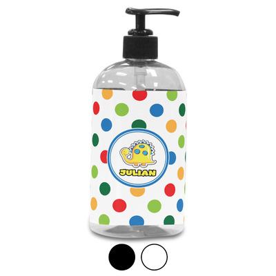 Dots & Dinosaur Plastic Soap / Lotion Dispenser (Personalized)