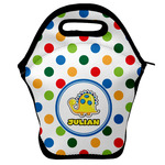 Dots & Dinosaur Lunch Bag w/ Name or Text