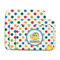 Dots & Dinosaur Memory Foam Bath Mat (Personalized)