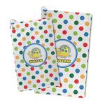 Dots & Dinosaur Microfiber Golf Towel (Personalized)