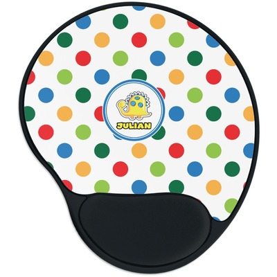 Dots & Dinosaur Mouse Pad with Wrist Support