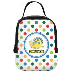 Dots & Dinosaur Neoprene Lunch Tote (Personalized)