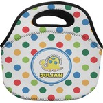 Dots & Dinosaur Lunch Bag (Personalized)