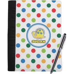 Dots & Dinosaur Notebook Padfolio (Personalized)