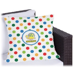 Dots & Dinosaur Outdoor Pillow (Personalized)