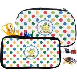 Dots & Dinosaur Pencil / School Supplies Bag (Personalized)
