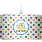 Dots & Dinosaur Drum Pendant Lamp (Personalized)