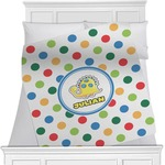 Dots & Dinosaur Minky Blanket (Personalized)