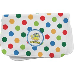 Dots & Dinosaur Burp Cloth (Personalized)
