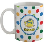 Dots & Dinosaur Coffee Mug (Personalized)