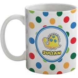 Dots & Dinosaur Coffee Mug (Personalized)