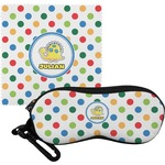 Dots & Dinosaur Eyeglass Case & Cloth (Personalized)