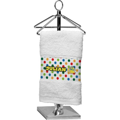 Dots & Dinosaur Cotton Finger Tip Towel (Personalized)