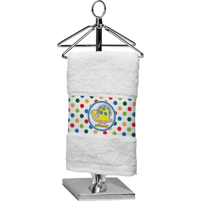 Dots & Dinosaur Finger Tip Towel (Personalized)