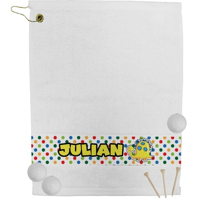 Dots & Dinosaur Golf Towel (Personalized)