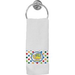Dots & Dinosaur Hand Towel (Personalized)