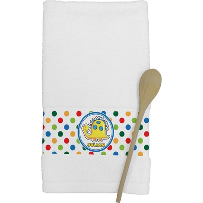 Dots & Dinosaur Kitchen Towel (Personalized)