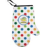 Dots & Dinosaur Right Oven Mitt (Personalized)