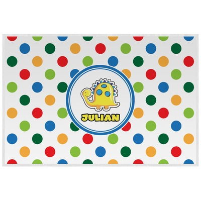 Dots & Dinosaur Laminated Placemat w/ Name or Text