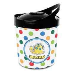 Dots & Dinosaur Plastic Ice Bucket (Personalized)