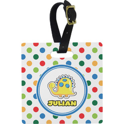 Dots & Dinosaur Luggage Tags (Personalized)
