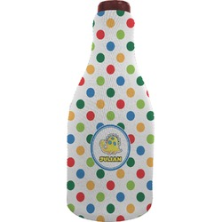 Dots & Dinosaur Wine Sleeve (Personalized)