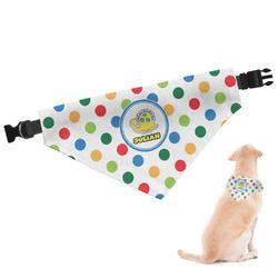 Dots & Dinosaur Dog Bandana (Personalized)