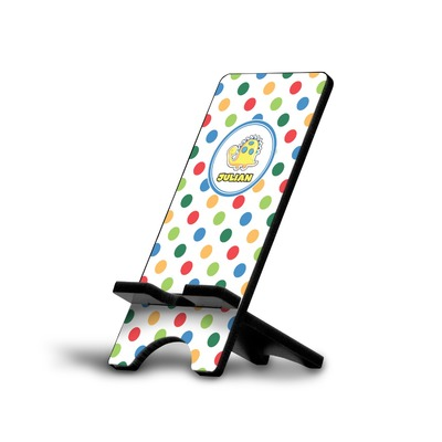 Dots & Dinosaur Cell Phone Stands (Personalized)
