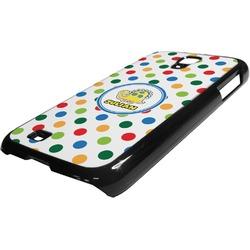 Dots & Dinosaur Plastic Samsung Galaxy 4 Phone Case (Personalized)