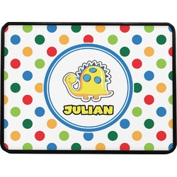 Dots & Dinosaur Rectangular Trailer Hitch Cover (Personalized)