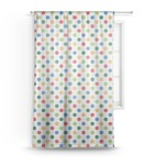 Dots & Dinosaur Sheer Curtains (Personalized)