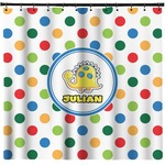Dots & Dinosaur Shower Curtain (Personalized)