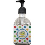 Dots & Dinosaur Soap/Lotion Dispenser (Glass) (Personalized)