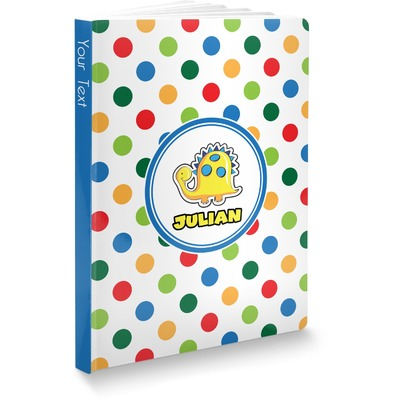 Dots & Dinosaur Softbound Notebook (Personalized)