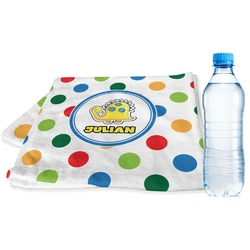 Dots & Dinosaur Sports Towel (Personalized)