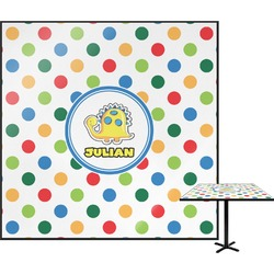 """Dots & Dinosaur Square Table Top - 24"""" (Personalized)"""