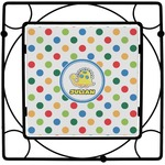 Dots & Dinosaur Square Trivet (Personalized)