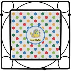 Dots & Dinosaur Square Trivet (Personalized)